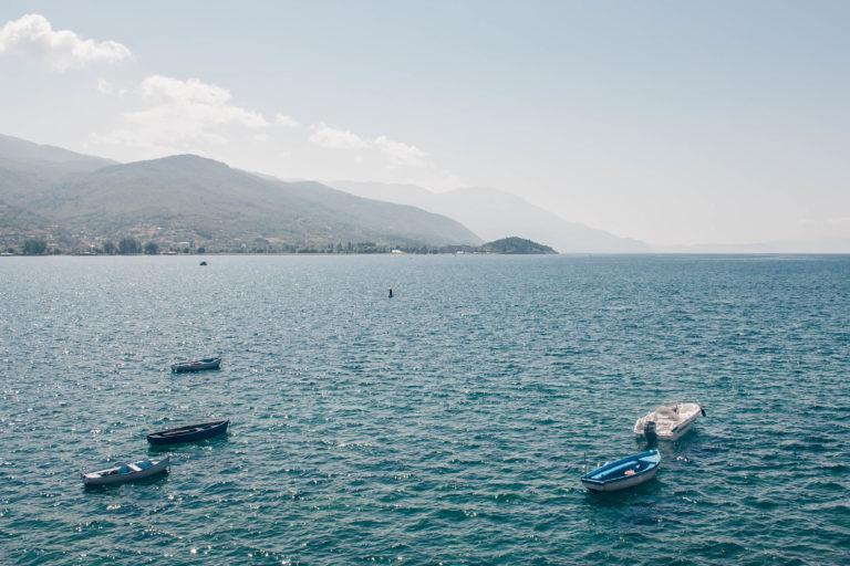 Clear water at lake Ohrid North Macedonia